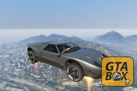 Автомобиль в воздухе в GTA 5