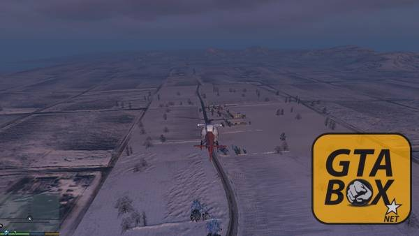 Обзор города с вертолета