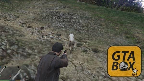 Майкл на охоте в GTA 5