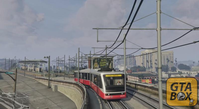 Поезда в GTA 5 - Тревор за рулем