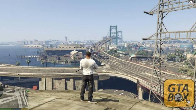 Франклин на крыше здания