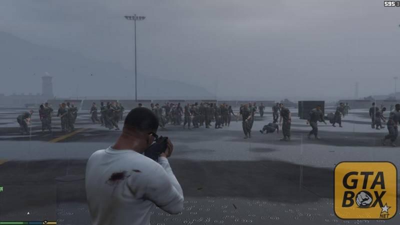 Франклин на военной базе
