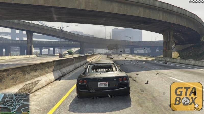 Взрывы автомобилей в GTA 5