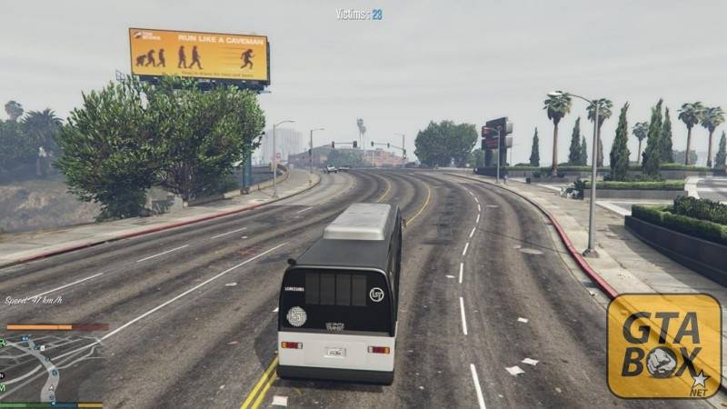 Франклин едет в автобусе