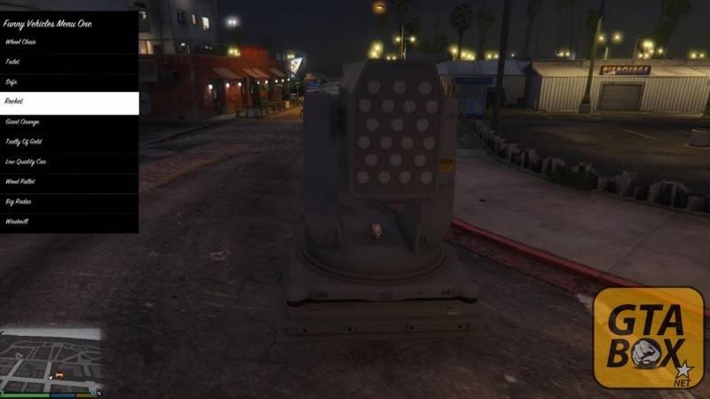 Спавн объектов в центре Лос Сантоса