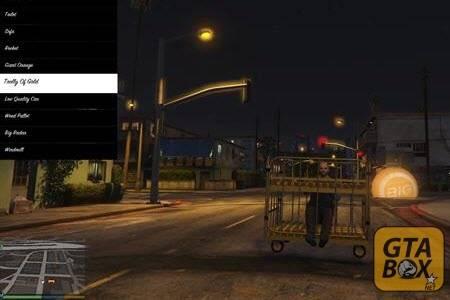 Тревор сидит на товарной корзине