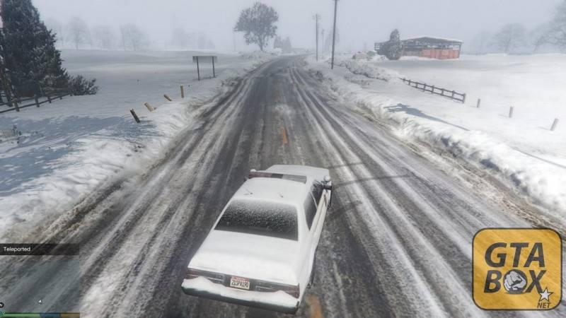 В Лос Сантосе снег