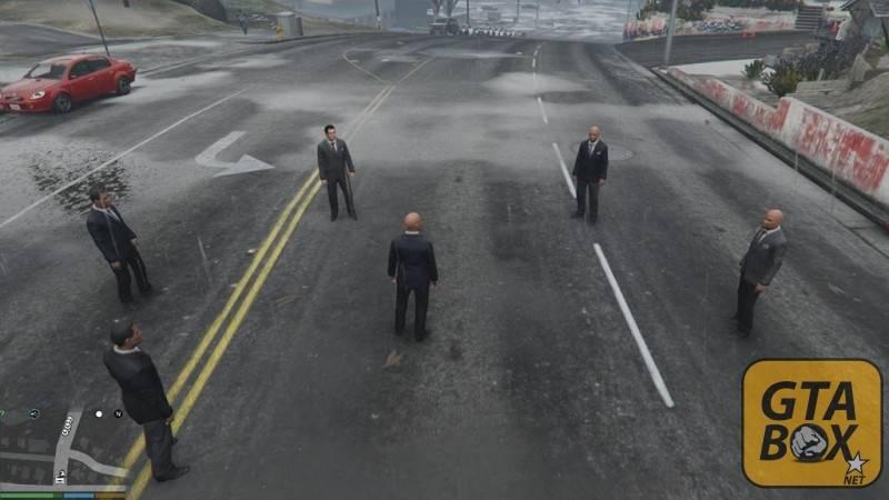 Охранники Тревора на улицах Лос Сантоса
