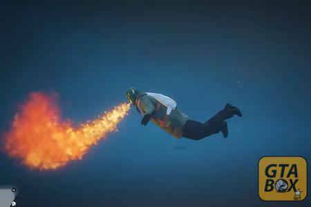 Главный герой под водой с огнем