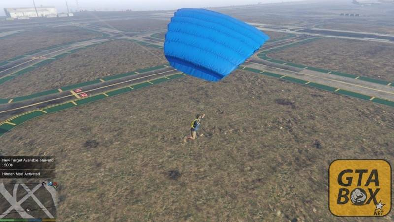 Раскрытие парашюта и приземление