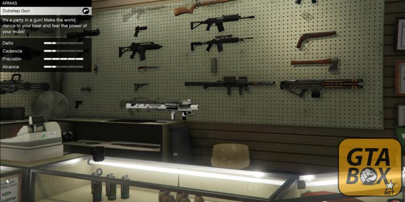 Покупка нового оружия в магазине Лос Сантоса