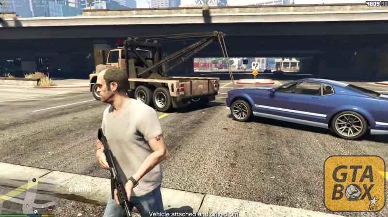 Работа эвакуатора в GTA 5