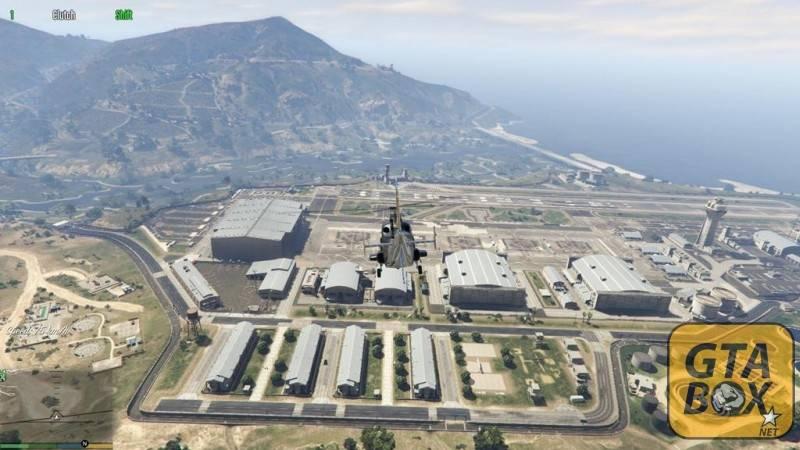 Военная база - вид сверху
