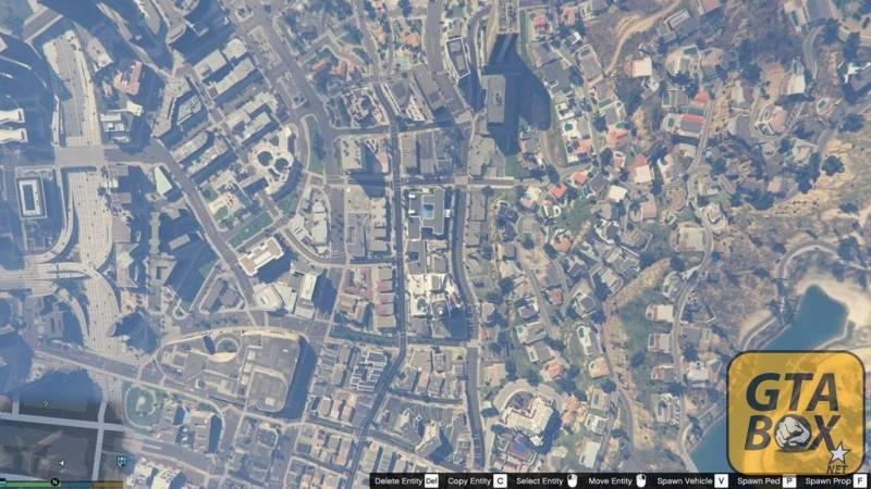 Вид на город в GTA 5 сверху