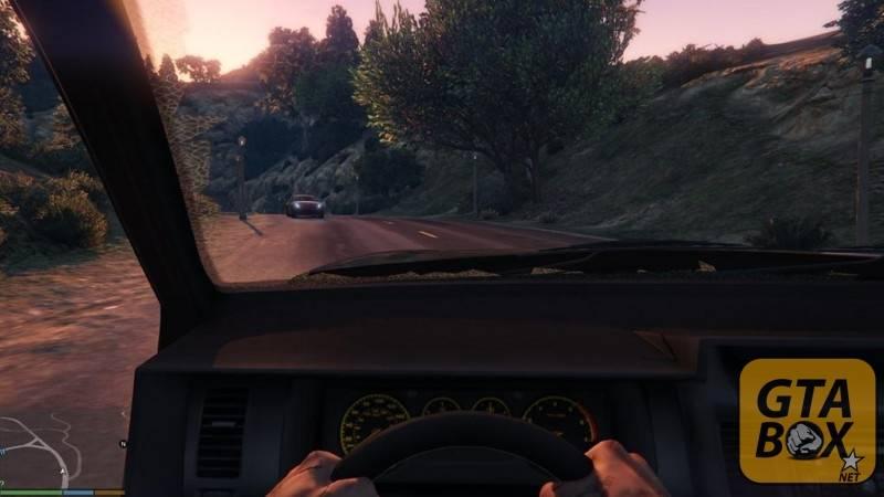 Вид от первого лица в машине