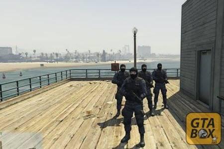Отряд SWAT на задании