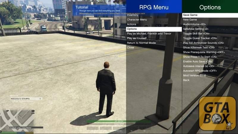 Опции в RPG GTA 5