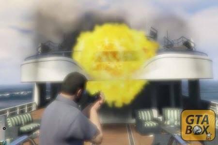 Взрыв с воздуха в GTA 5