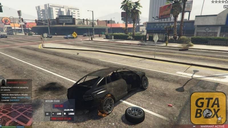 Взрыв автомобиля на шоссе