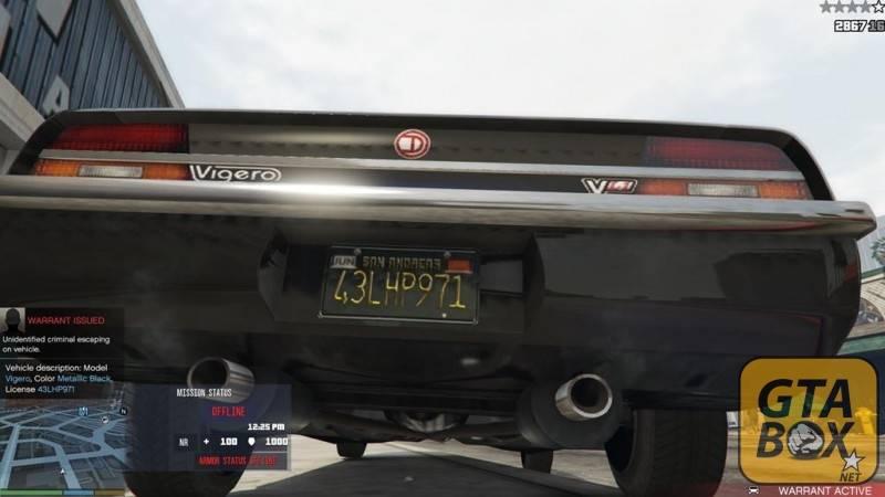 Система розыска автомобиля - отображение номера