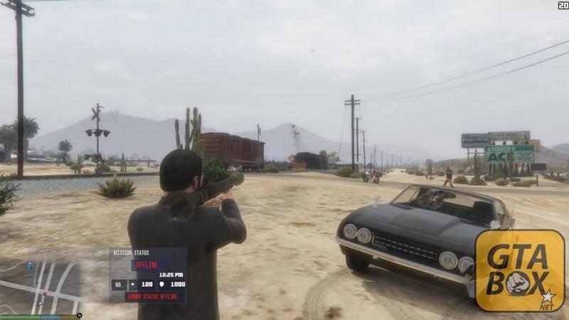 Майкл взрывает поезд из РПГ