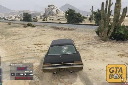 Майкл на автомобиле уходит от погони