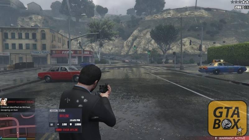 Майкл стреляет по жителям