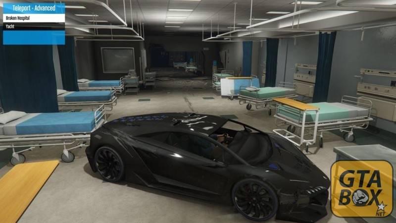 Zentorno в заброшенной больнице - новая локация
