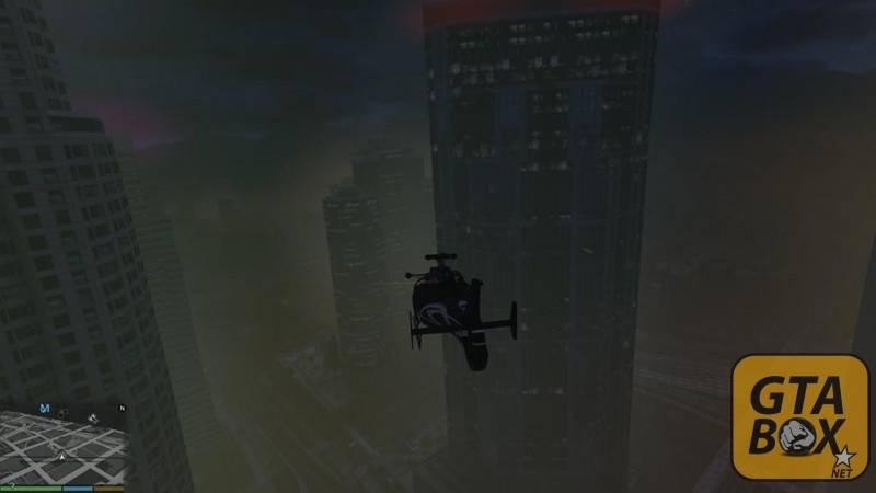 Майкл на вертолете над Лос Сантосом