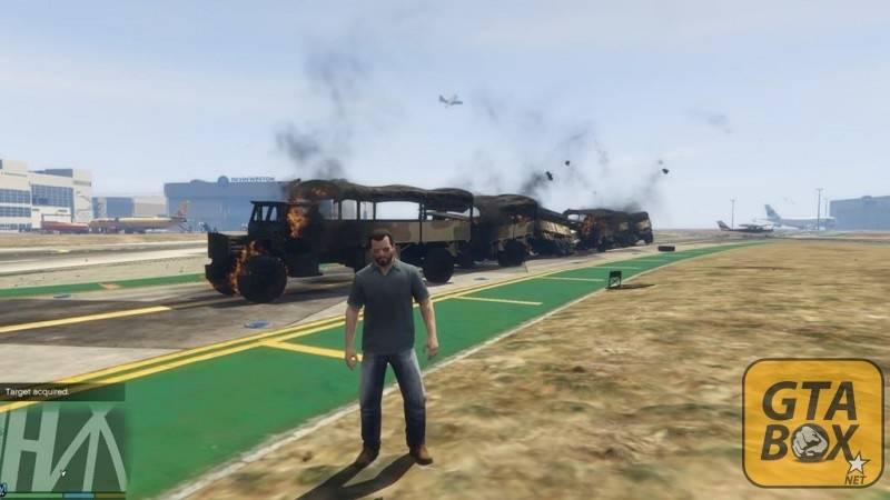 Разрушенные автомобили с пушек