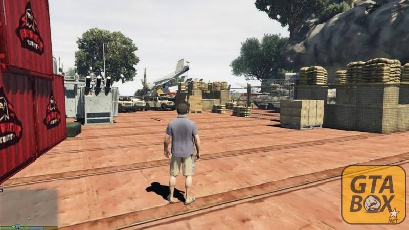Военная техника на острове