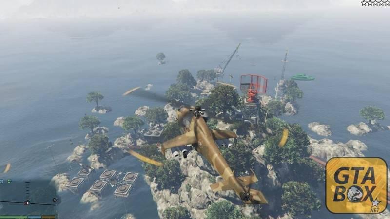 Полет над новой локацией на вертолете