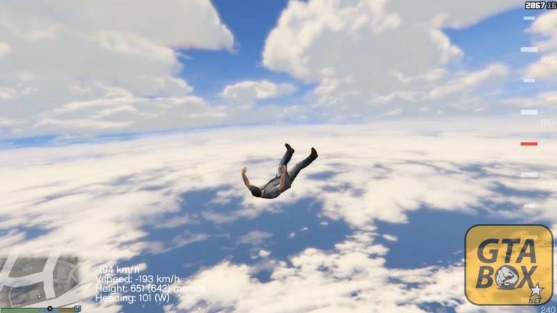 Отображение высоты при падении