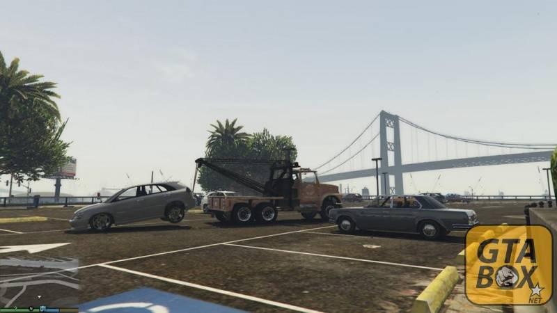 Эвакуация автомобиля в игре