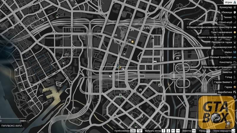 Карта расположения салона