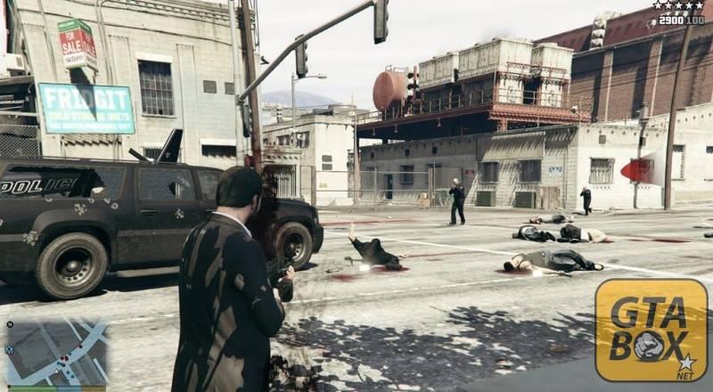 Преследование полиции в GTA 5